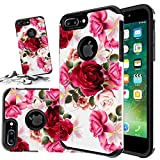 [ Storm Buy ] Butterfly Series Sturdy Durable Hybrid Dual Layer Protective Phone Case Cover for [ iPhone 8 Plus/iPhone 7 Plus ] (Butterfly Bliss)