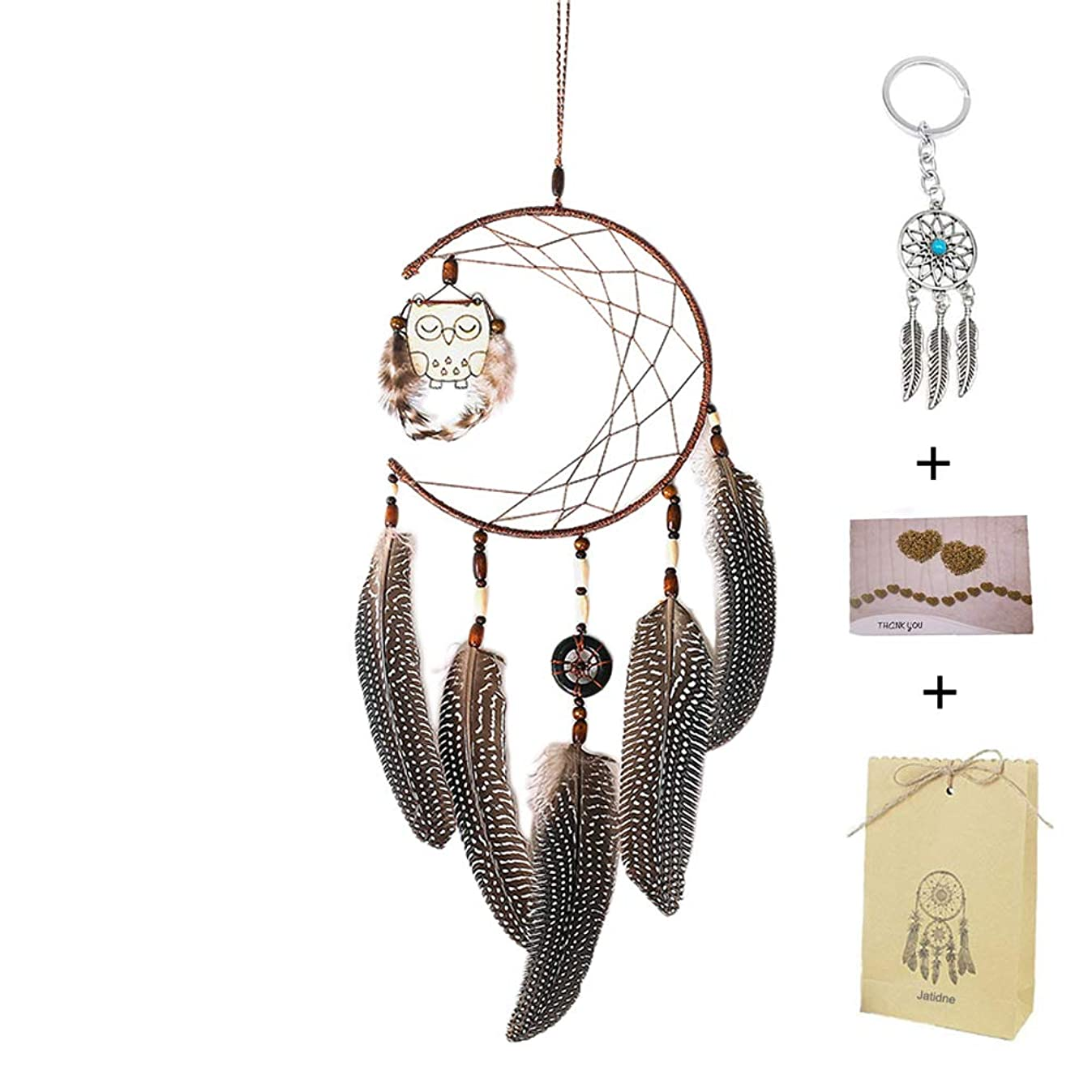 FIGEN Dream Catcher Handmade Traditional Feather Wall Hanging Home Decoration Decor Ornament Craft (A)