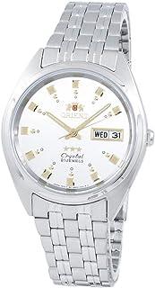 ساعة اورينت FAB00009W للرجال 3 ستار ستانلس ستيل مينا فضي سيلف ويند