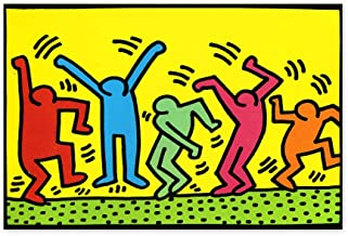 Christmas Ugly Sweater Cal Keith Haring Poster Wall Art Office Interior The Dancers Home Decor Prints Art Lovers 24