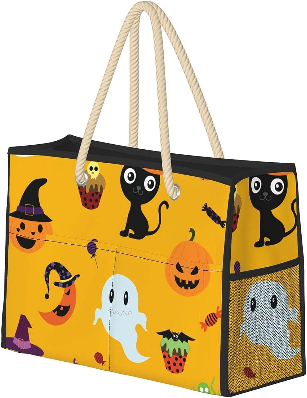 safety Pumpkin Pattern trend rank Beach Bag Halloween Lar Element Durable Printing