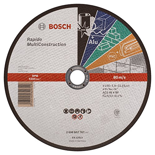 230x1,9mm BOSCH 2608601514 Disco abrasivo de corte c/óncavo Standard Inox