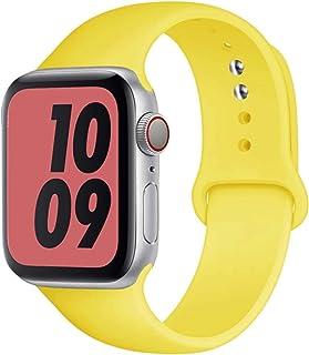 Correa de silicona para Apple Watch Band 44mm 40mm iwatch band 38mm 42mm Sport belt pulsera correa para apple watch series...