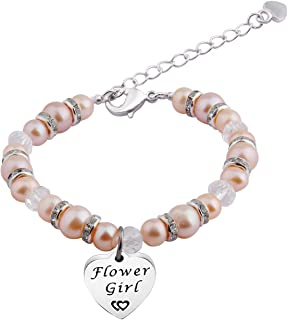 Zuo Bao Flower Girl Bracelet Nature Pearl Bracelet Wedding Party Gift for Flower Girl