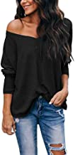YLorcce Womens Pullover Sweaters,Casual Loose V Neck Batwing Sleeve Soft Waffle Knit Sweater Tops