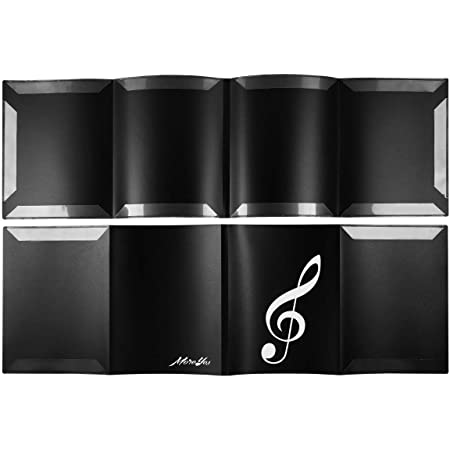 Music Sheet Storage Sheet Music Folder Black Expansion Clip 6 Pages Music Lovers Students Use for Guitar Piano