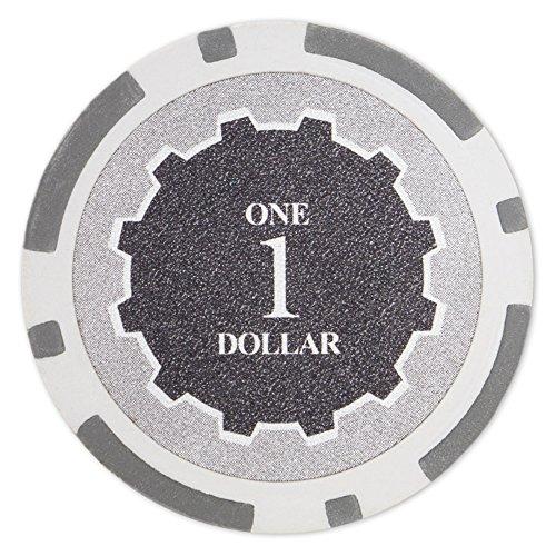 Brybelly Eclipse - Lote de 50 fichas de póker de cerámica de 14 gramos, Gris ($1 Gray)