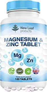 Magnesium Supplements with Zinc – High Absorbency, Supports Many Health Factors Easy to Swallow Sleep Supplement -Vegan, G...