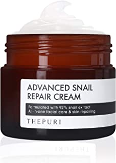 THEPURI Advanced Snail Repair Cream 3.17 fl. oz. (90g) - Anti-Aging Deep Moisturizing Whitening Skin Care / 92% Snail Mucin Extract Facial Moisturizer