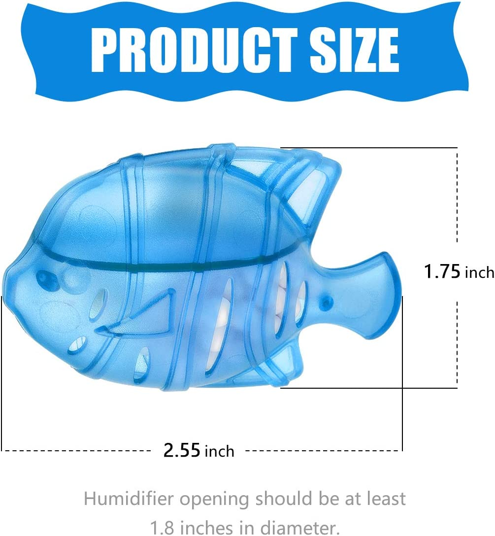 YLX Humidifier Cleaner Universal Humidifier Tank Cleaner Fish,Compatible with Protec Kaz PC1F Drop Droplet Adorable Warm/&Cool Mist Humidifiers Fish Tank-10 Pack.