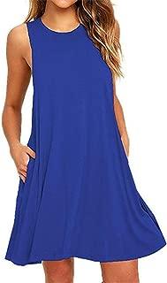 T-Shirt Dress, Dayseventh Women Pockets Above Knee Dress Party Dress