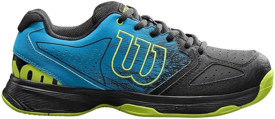 Wilson Enfant Chaussures de Tennis, Convient aux joueurs de tout niveau, Pour tout type de terrain, STROKE JR, Tissu Synthétique