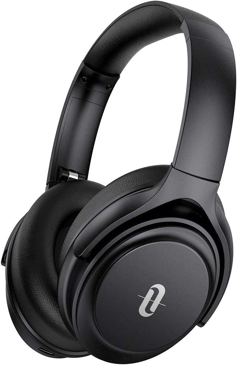 Active Noise Cancelling Headphones, TaoTronics Bluetooth Headphones Over Ear Wireless Headphones 40H Playtime Type-C Fast Charging Bluetooth 5.0 CVC 8.0 Mic for Online Class Black