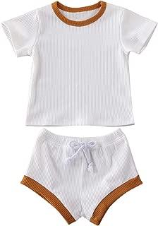 Drawstring Shorts Outfits Set puseky 2pcs//Set Infant Newborn Shark Letter Print Short Sleeve T-Shirt