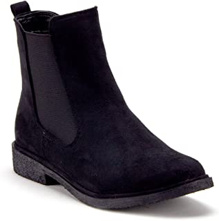 J'aime Aldo Women's Menswear-Inspired Ankle High Suede Slip On Chelsea Bootie Boots