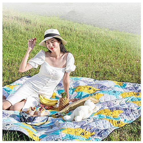 QDDP Picknickdecke wasserdicht waschbar stranddecke,Strandmatte Große feuchtigkeitsbeständige Decke im Freien, sanddichte Stranddecke für Camping Wandergras Reisen, maschinenwaschbar