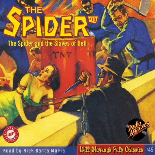 Spider #70 July 1939 audiobook cover art