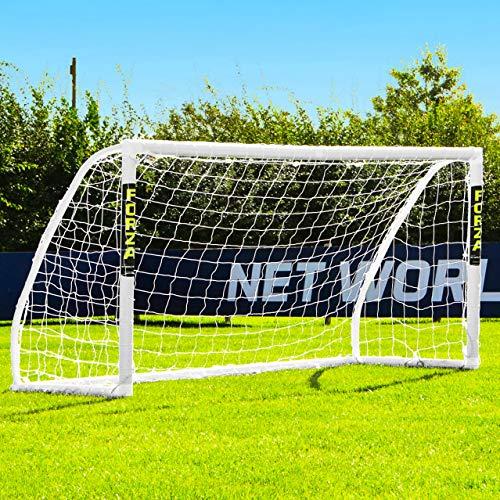 FORZA 8 x 4 Match Soccer Goal Post | 8ft x 4ft Soccer Goals for Junior Matches or Backyard Games | Soccer Training Equipment for Kids | Soccer Net & Soccer Goal