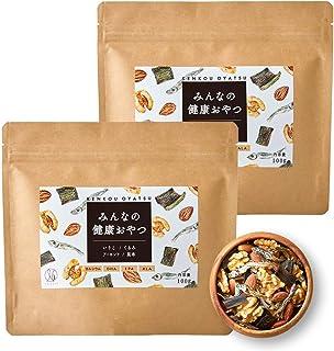ナチュレライフ みんなの健康おやつ ミックスナッツ 100g×2袋 おつまみ カルシウム DHA 小魚 アーモンド くるみ いりこ 昆布 子ども (2袋セット)