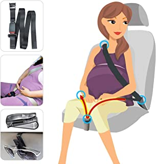 Maternity Seat Belt Pregnancy Car Belt Adjuster, Comfortable & Safe Pregnant Bump Belt for Expectant Mothers, Upgrade Car Seatbelt for Pregnant Moms Belly and Unborn Baby's Safety