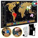 TooPopz® Mappa del Mondo da Grattare MuP! 84x44cm | Premium Design Italiano, Grande Poster Planisfero da Parete, Idee Regalo Originali per Viaggiatori, Cartina Geografica Mondo, Scratch Map World
