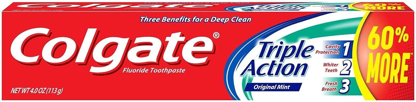 代理店生活傷つきやすいColgate トリプルアクション歯磨き粉、4オンス