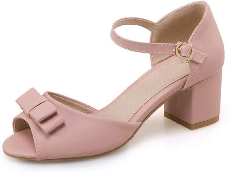 Sexiga skor med med med fotgängare Kvinnor med bowknuten hög klack Sanadals Sweet skor Kvinnor Tjocka hälar Sandal  online-återförsäljare