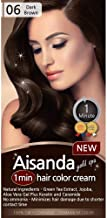 Aisanda Hair Color Cream, Dark Brown Hair Dye, Ammonia Free, 1-min Hair Color Cream (Dark Brown)