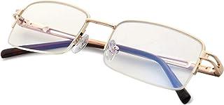 Reducblu Blue Light Filter Glasses for Women and Men - Half Rim Design Computer Readers