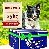 Frost Doublure vacances Paquet 25kg incl. tiefgekühlter Objet de Barf pour chien...