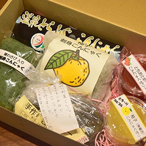 那珂川町 大山田産 手づくりこんにゃく 詰合せセット (手づくりこんにゃく6本・こんにゃくゼリー2種)