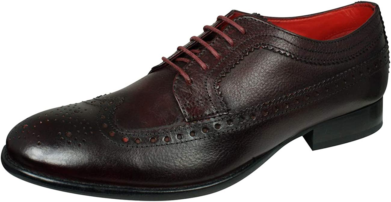 Base London Bailey Burnished Mens Lace Up Brogues