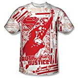 Superman Comic Cartoon TV Series Movie Truth&Justice Adult Front Print T-Shirt