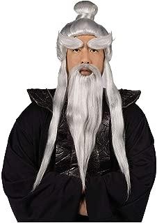 Sensei Wig, Beard & Brows Set Costume Accessory Kit