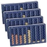 PEARL Münzsortierer: 4er-Set Euro-Münzbretter für alle Euro- und Cent-Münzen (Geld Sortierer)