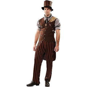 Disfraz de Steampunk a Rayas para hombre: Amazon.es: Juguetes y juegos