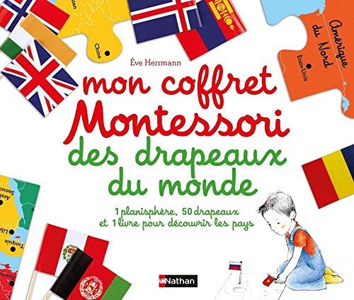 petit un compact Ma boîte Montessori avec le drapeau du monde – 6+