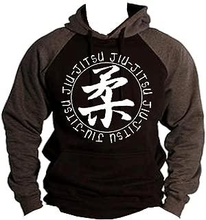 Interstate Apparel Inc Brazilian Jiu Jitsu MMA/BJJ Men's Two Tone Hoodie Charcoal/Black