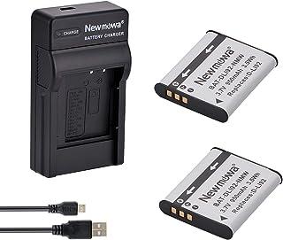 Newmowa D-LI92 互換バッテリー 2個 + 充電器 対応機種 Pentax D-LI92 Optio I-10 Optio RZ10 Optio RZ18 Optio WG-1 Optio WG-1 GPS Optio WG-10 Optio WG-2 Optio WG-2 GPS Optio WG-3 Optio WG-3 GPS X70