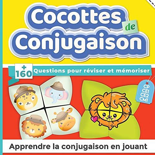 Cocottes de conjugaison : +160 questions pour réviser et mémoriser | CP, CE1, CE2, CM1 | Apprendre la conjugaison en jouant
