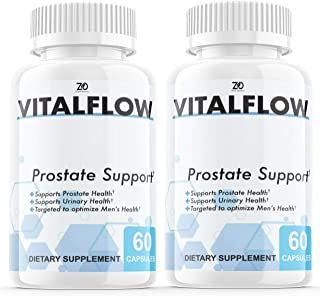 (2 Pack) Vitalflow Prostate Supplement, Vitalflow Prostate Pills, Hair Loss, DHT Blocker - Vital Flow Supports Those with ...