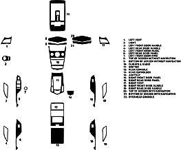 Rdash Dash Kit Decal Trim for Cadillac SRX 2010-2012 - Wood Grain (Mahogany)