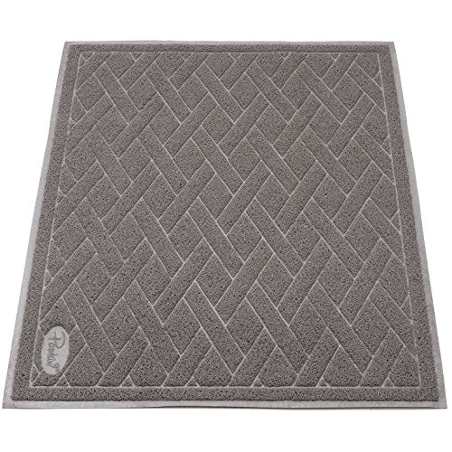 Pawkin Cat Litter Mat, Jumbo XX-Large, 4x3 Feet, Fits Two Litter Boxes or Extra Coverage for One Box, Gray