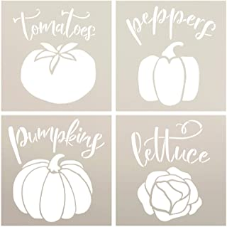 Garden Marker Stencil Set by StudioR12 | Pack of 4 | DIY Spring Backyard Outdoor Home Decor | Vegetable Plant Label Word A...
