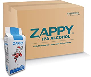 Zappy Alcohol 10s Wipes, 10 ct (Pack of 15)