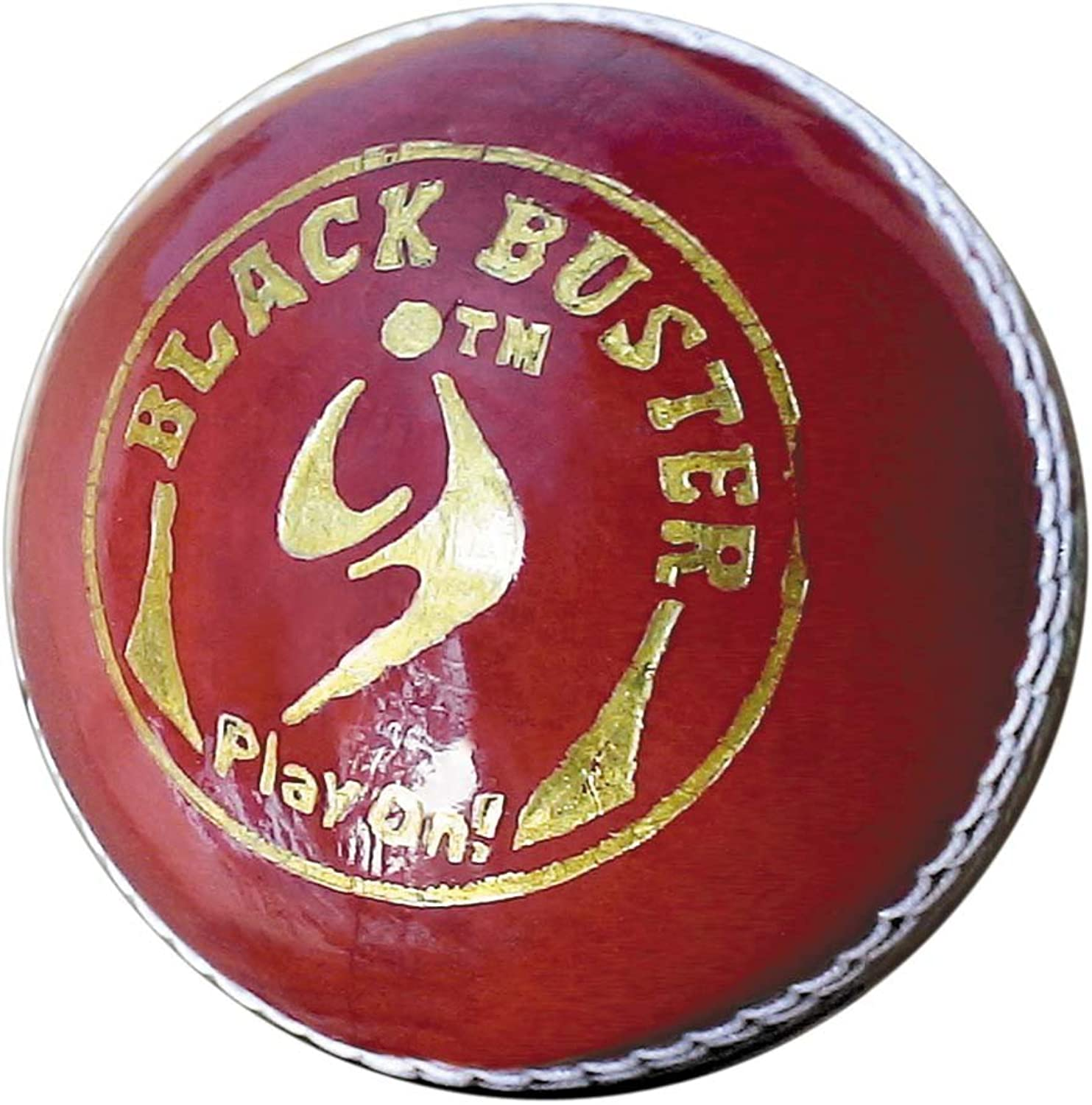 SM Leather, Synthetic Cricket Ball (5.5oz, SM (Black Buster))