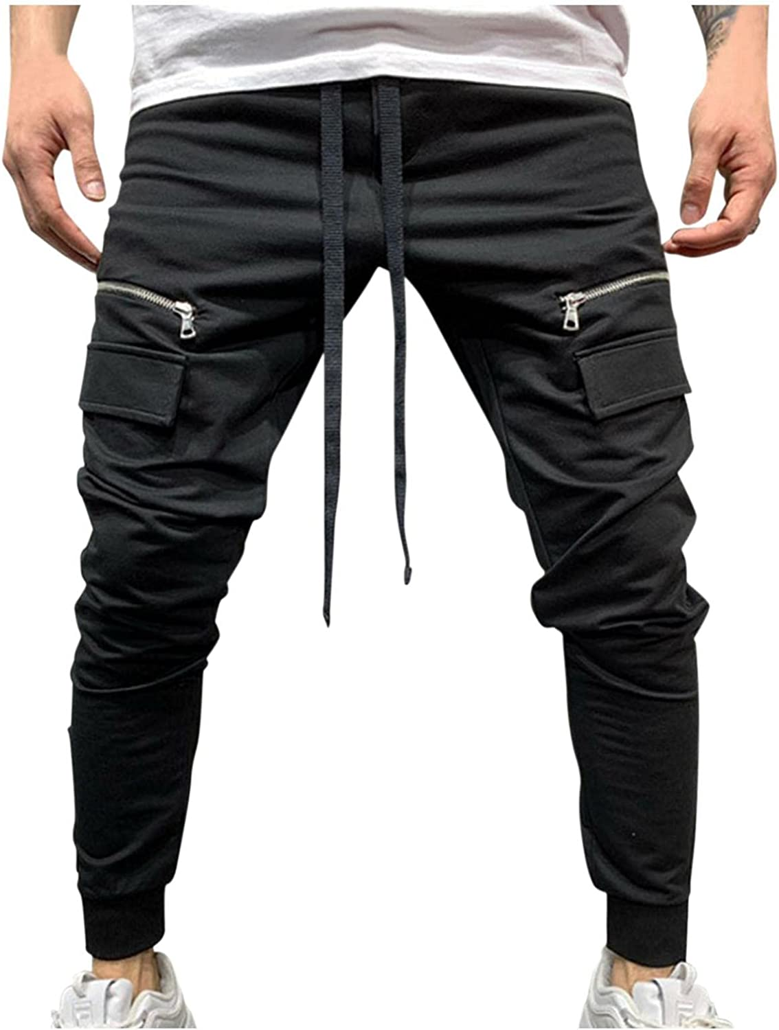 Beshion Los Angeles Mall Swetpants Attention brand for Men Slim Casual Jogger Pants Fit Mid-Waist