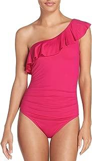 Flirt One Shoulder One Piece Swimsuit Fuchsia Size 10