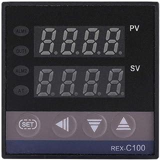 Oumefar PID 0 ℃ ~ 1300 ℃ regulator termostatu przemysłowy przełącznik termostatu REX-C100 cyfrowy LED AC 110 V-240 V z czu...