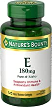 Nature's Bounty Vitamin E Pills and Supplement Softgels , Supports Antioxidant Health, 400iu, 120 Count